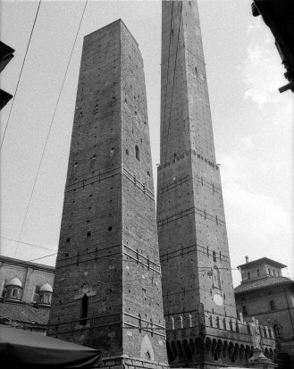 City center towers. Bologna, Italy.