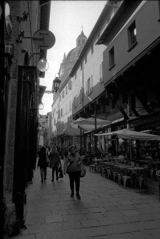 City street. Bologna, Italy.