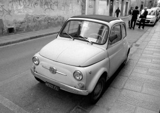 Tiny car. Somewhere in Florence, Italy.