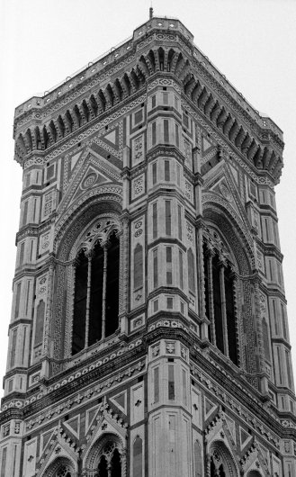 Duomo tower detail. Florence, Italy.