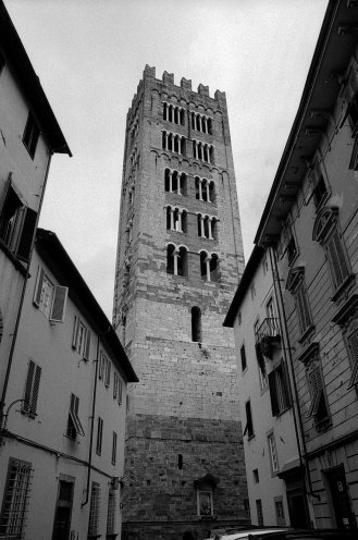 Church tower. Lucca, Italy.
