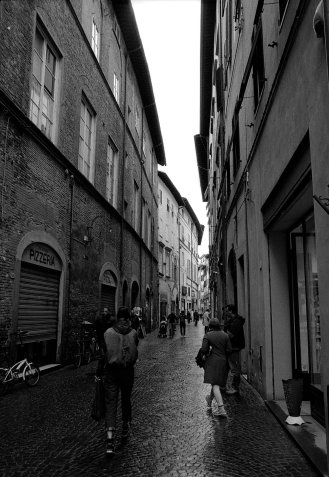 Street in Lucca, Italy.